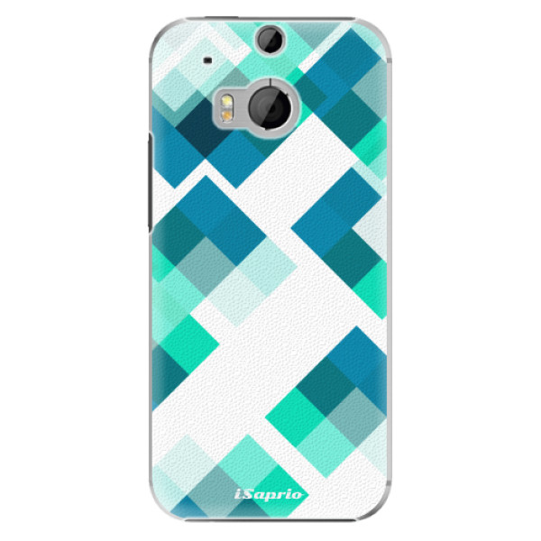 Plastové pouzdro iSaprio - Abstract Squares 11 - HTC One M8