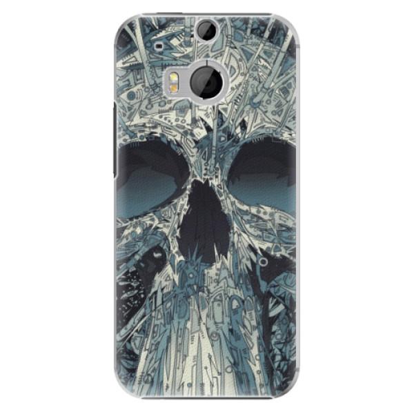 Plastové pouzdro iSaprio - Abstract Skull - HTC One M8