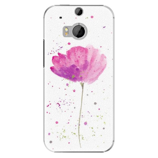 Plastové pouzdro iSaprio - Poppies - HTC One M8