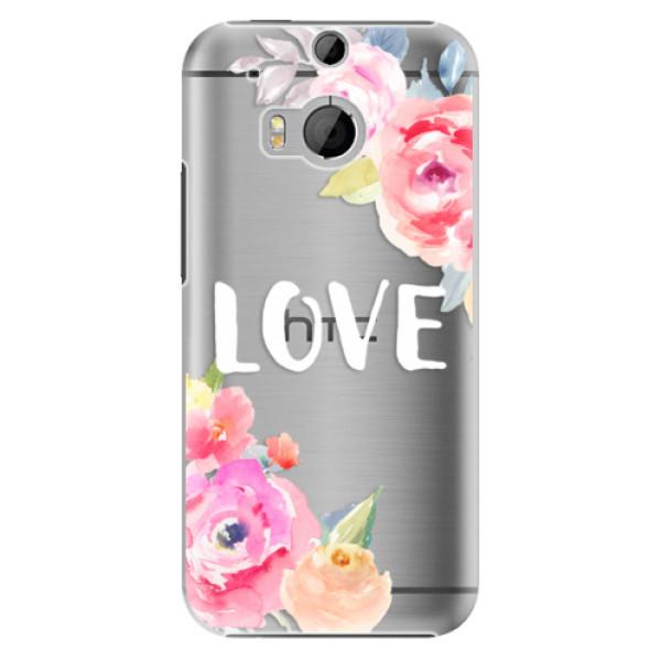Plastové pouzdro iSaprio - Love - HTC One M8