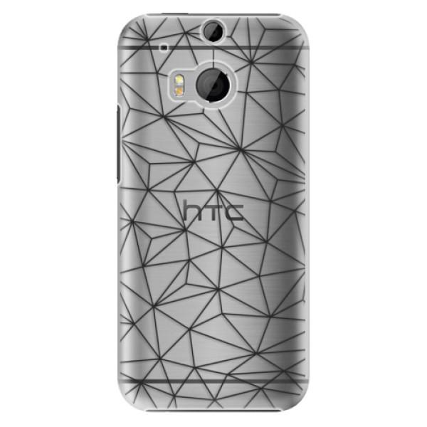 Plastové pouzdro iSaprio - Abstract Triangles 03 - black - HTC One M8