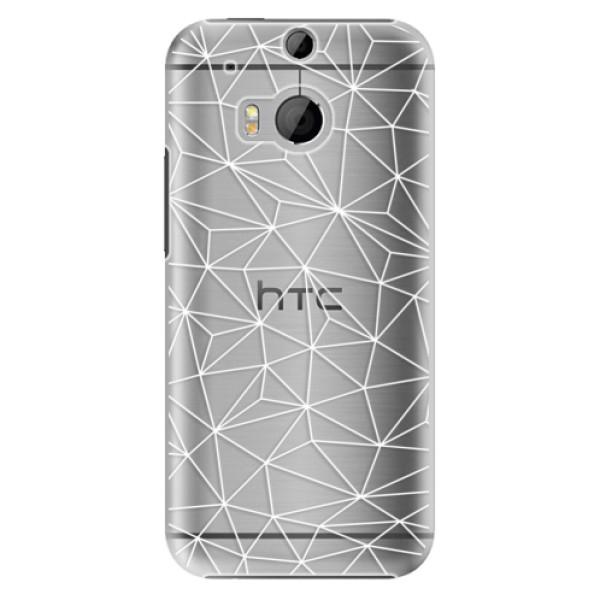 Plastové pouzdro iSaprio - Abstract Triangles 03 - white - HTC One M8