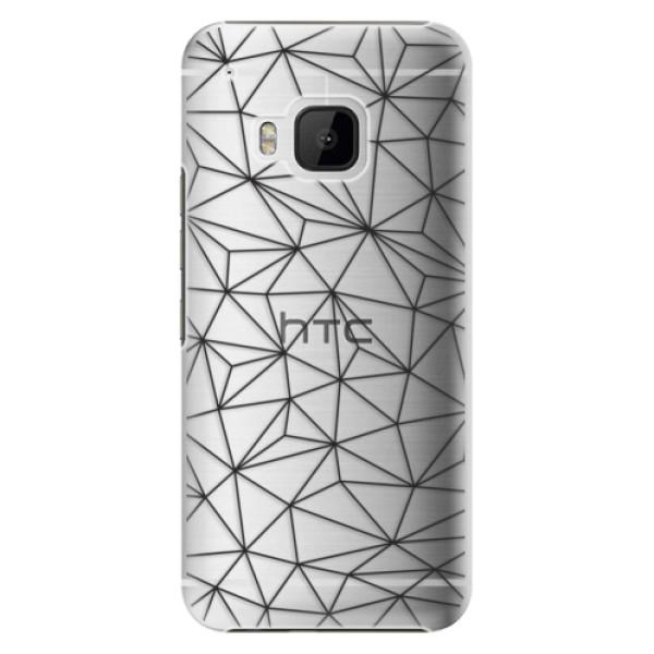 Plastové pouzdro iSaprio - Abstract Triangles 03 - black - HTC One M9