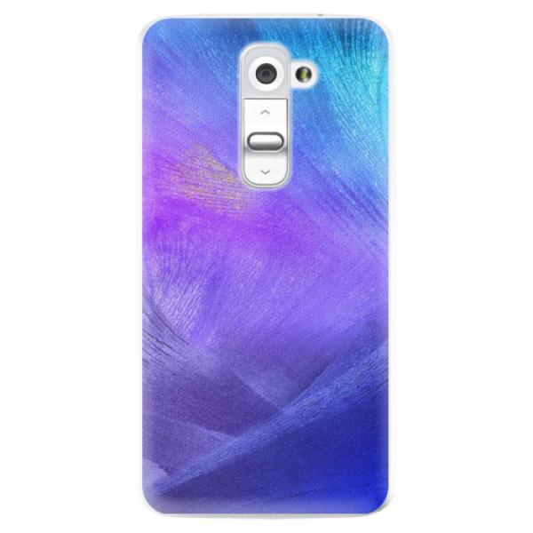 Plastové pouzdro iSaprio - Purple Feathers - LG G2 (D802B)
