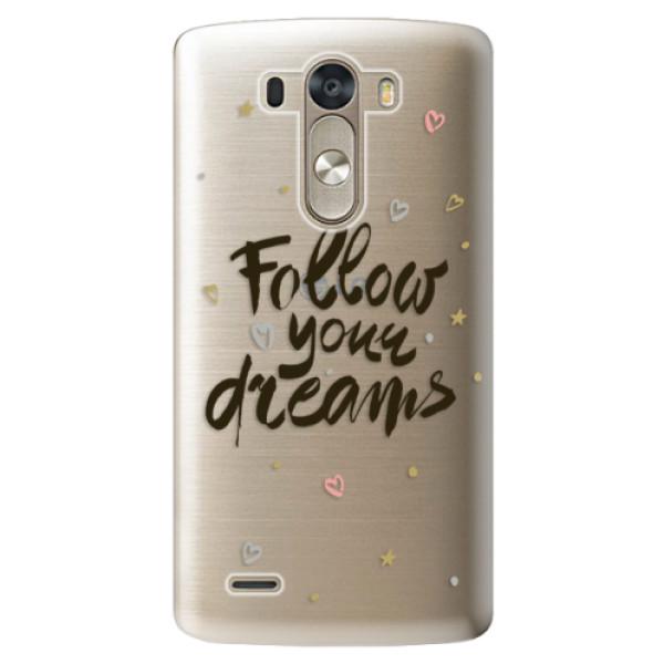 Plastové pouzdro iSaprio - Follow Your Dreams - black - LG G3 (D855)