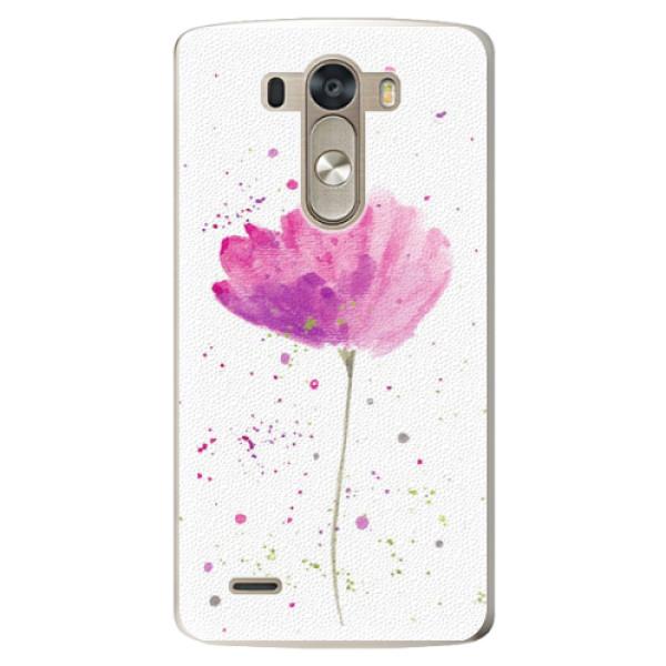 Plastové pouzdro iSaprio - Poppies - LG G3 (D855)