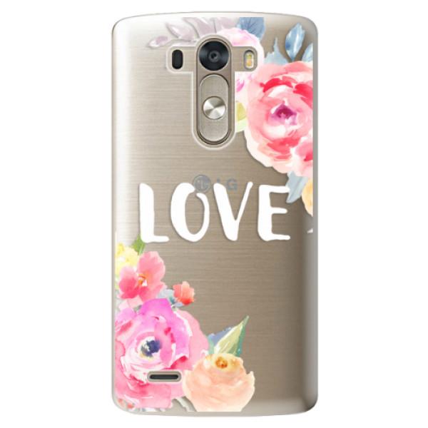 Plastové pouzdro iSaprio - Love - LG G3 (D855)