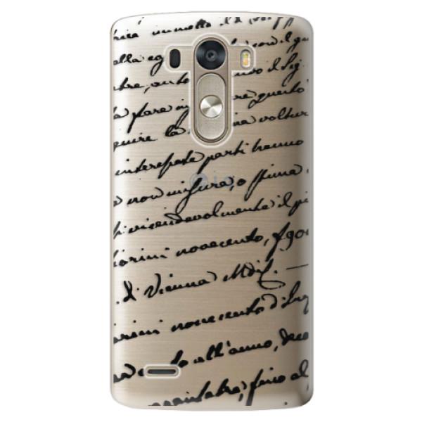 Plastové pouzdro iSaprio - Handwriting 01 - black - LG G3 (D855)