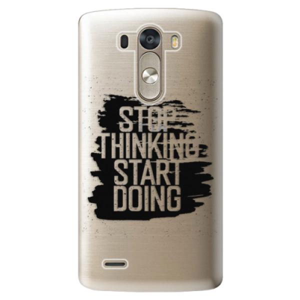 Plastové pouzdro iSaprio - Start Doing - black - LG G3 (D855)