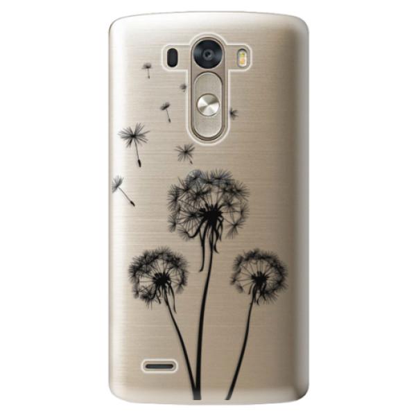 Plastové pouzdro iSaprio - Three Dandelions - black - LG G3 (D855)