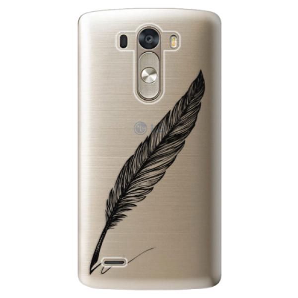 Plastové pouzdro iSaprio - Writing By Feather - black - LG G3 (D855)