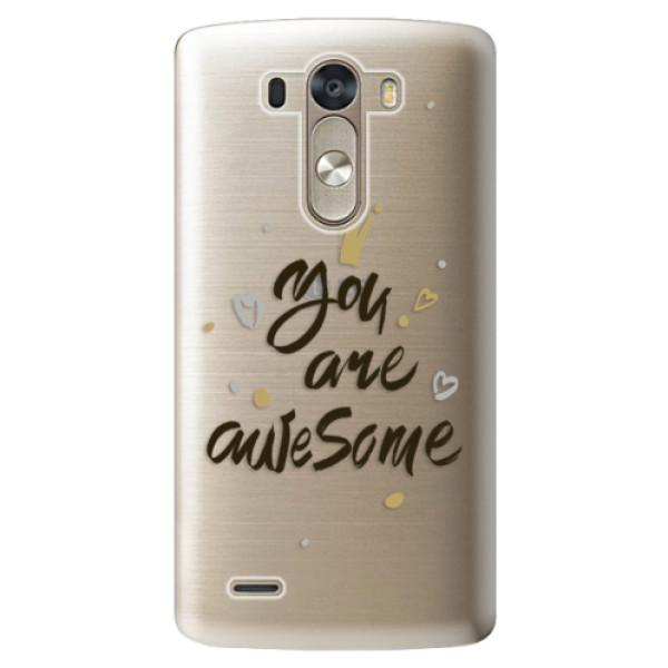 Plastové pouzdro iSaprio - You Are Awesome - black - LG G3 (D855)