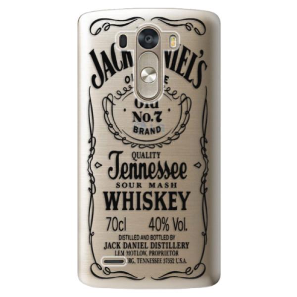 Plastové pouzdro iSaprio - Transparent Black Jack - LG G3 (D855)