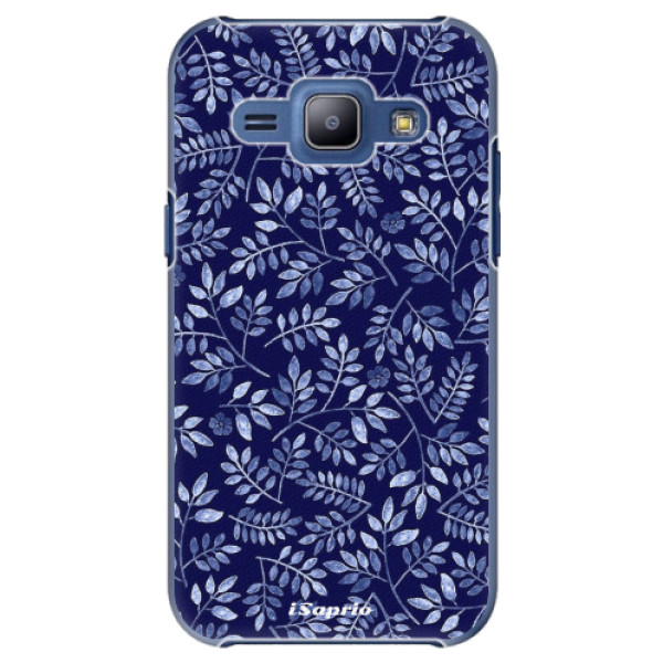 Plastové pouzdro iSaprio - Blue Leaves 05 - Samsung Galaxy J1
