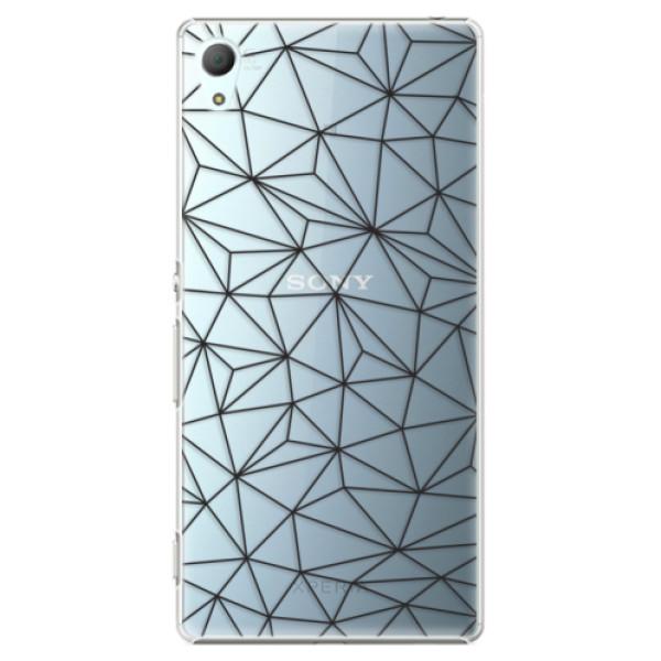 Plastové pouzdro iSaprio - Abstract Triangles 03 - black - Sony Xperia Z3+ / Z4