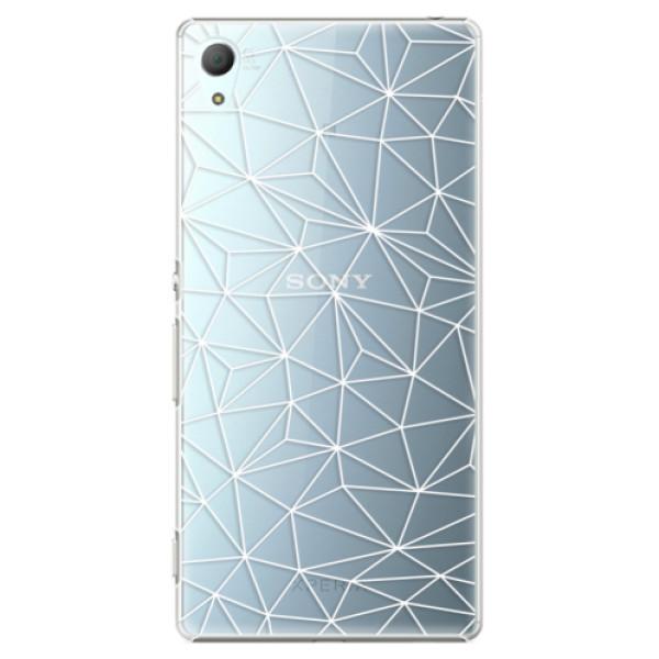 Plastové pouzdro iSaprio - Abstract Triangles 03 - white - Sony Xperia Z3+ / Z4