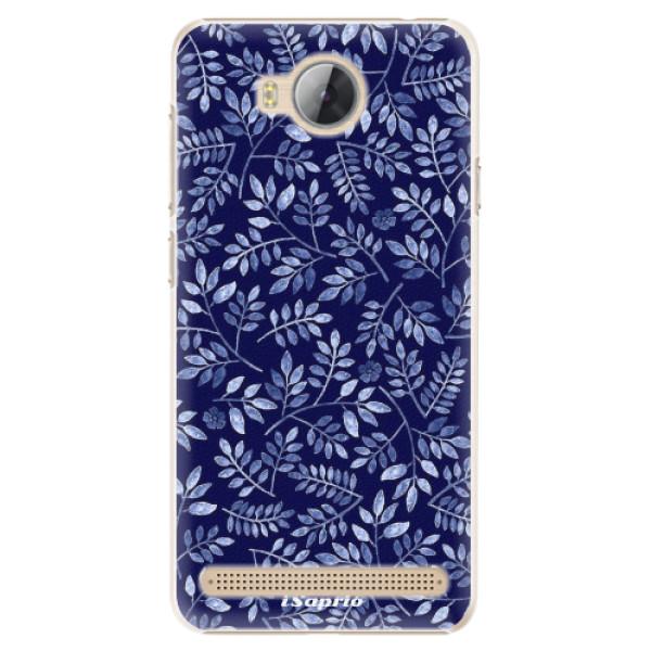 Plastové pouzdro iSaprio - Blue Leaves 05 - Huawei Y3 II