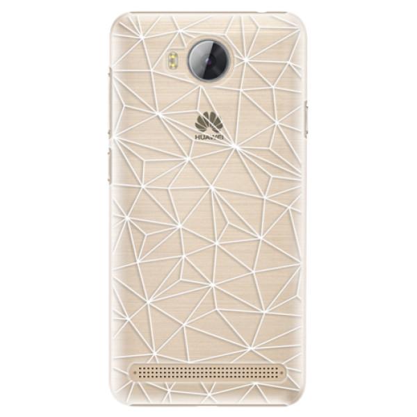 Plastové pouzdro iSaprio - Abstract Triangles 03 - white - Huawei Y3 II