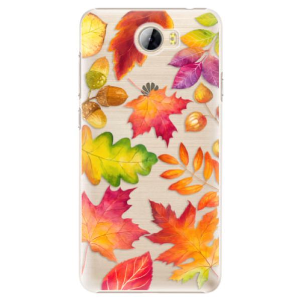 Plastové pouzdro iSaprio - Autumn Leaves 01 - Huawei Y5 II / Y6 II Compact
