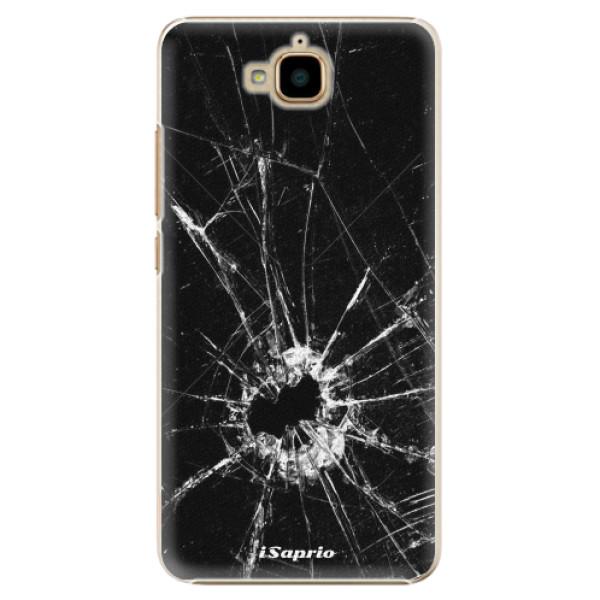 Plastové pouzdro iSaprio - Broken Glass 10 - Huawei Y6 Pro