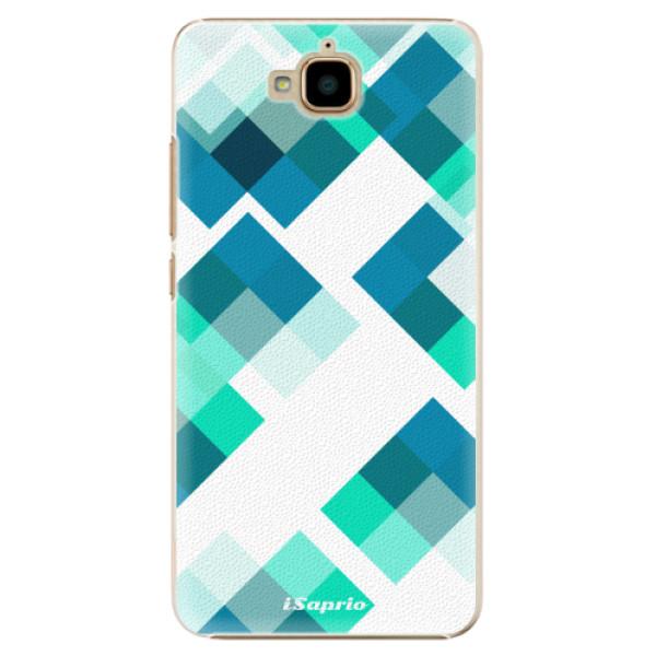 Plastové pouzdro iSaprio - Abstract Squares 11 - Huawei Y6 Pro