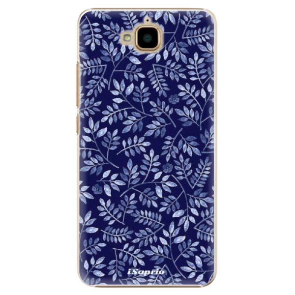 Plastové pouzdro iSaprio - Blue Leaves 05 - Huawei Y6 Pro