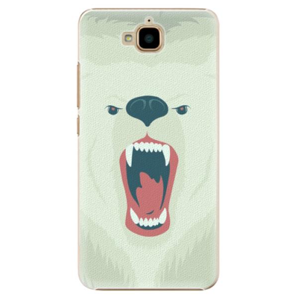 Plastové pouzdro iSaprio - Angry Bear - Huawei Y6 Pro