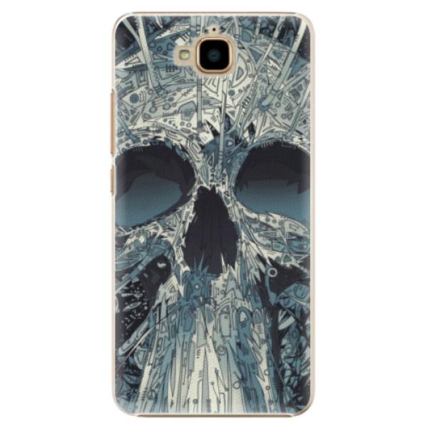 Plastové pouzdro iSaprio - Abstract Skull - Huawei Y6 Pro