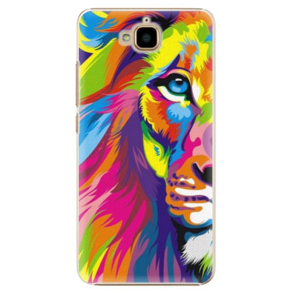 Plastové pouzdro iSaprio - Rainbow Lion - Huawei Y6 Pro