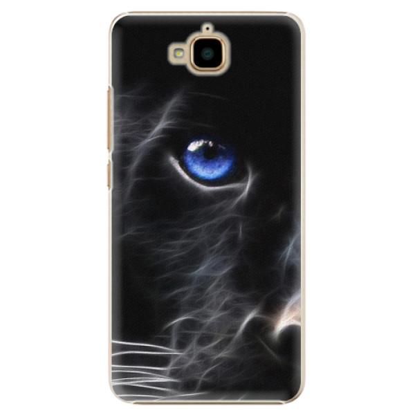 Plastové pouzdro iSaprio - Black Puma - Huawei Y6 Pro