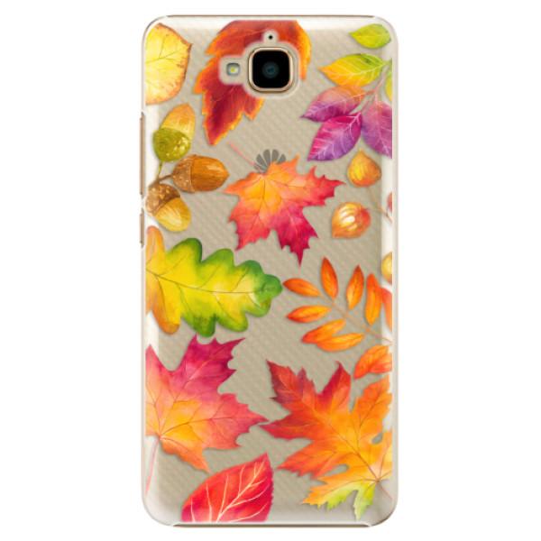 Plastové pouzdro iSaprio - Autumn Leaves 01 - Huawei Y6 Pro
