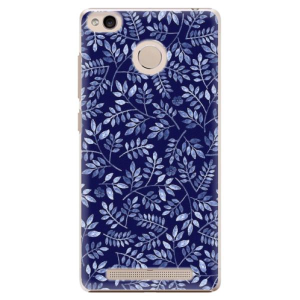 Plastové pouzdro iSaprio - Blue Leaves 05 - Xiaomi Redmi 3S