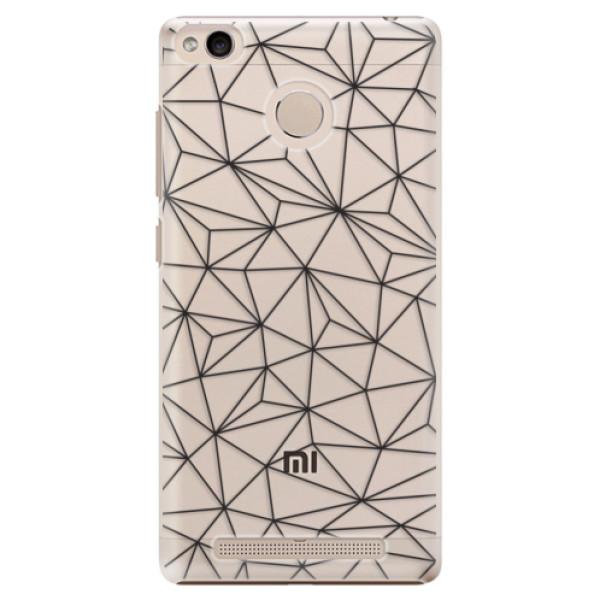Plastové pouzdro iSaprio - Abstract Triangles 03 - black - Xiaomi Redmi 3S