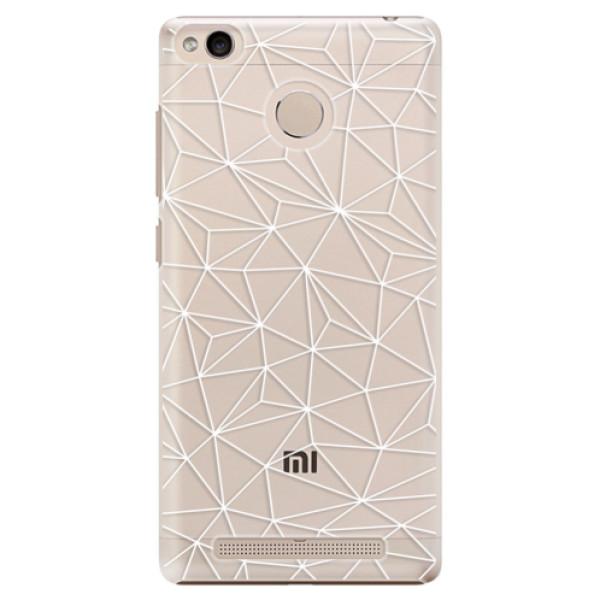 Plastové pouzdro iSaprio - Abstract Triangles 03 - white - Xiaomi Redmi 3S