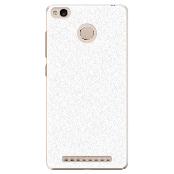 Plastové pouzdro iSaprio - 4Pure - bílý - Xiaomi Redmi 3S