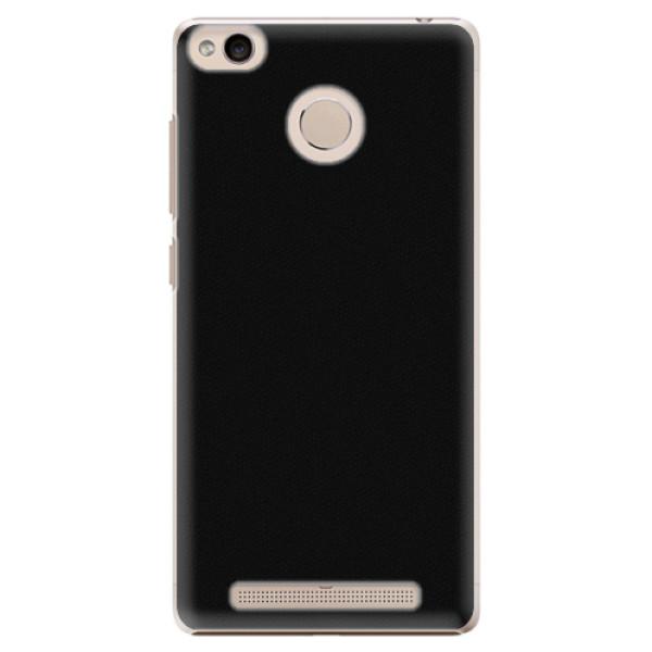 Plastové pouzdro iSaprio - 4Pure - černý - Xiaomi Redmi 3S