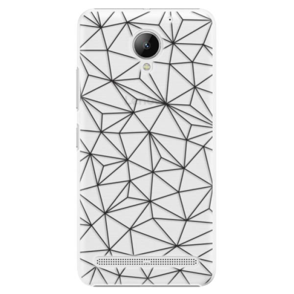 Plastové pouzdro iSaprio - Abstract Triangles 03 - black - Lenovo C2