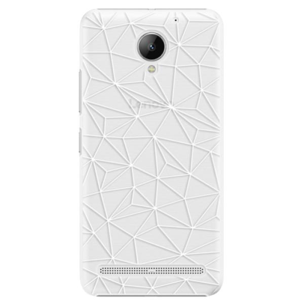 Plastové pouzdro iSaprio - Abstract Triangles 03 - white - Lenovo C2