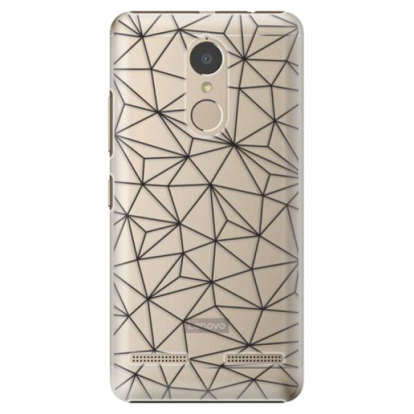 Plastové pouzdro iSaprio - Abstract Triangles 03 - black - Lenovo K6