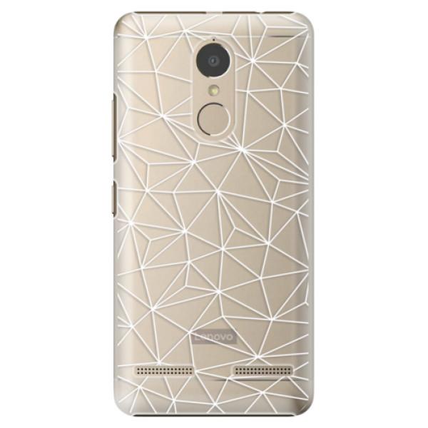 Plastové pouzdro iSaprio - Abstract Triangles 03 - white - Lenovo K6