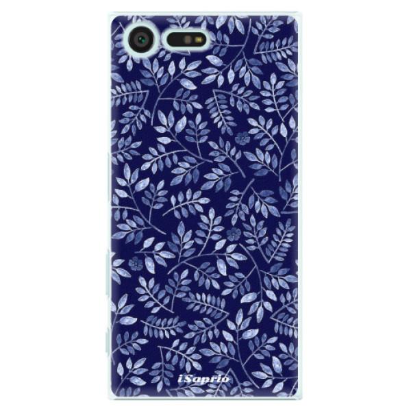 Plastové pouzdro iSaprio - Blue Leaves 05 - Sony Xperia X Compact
