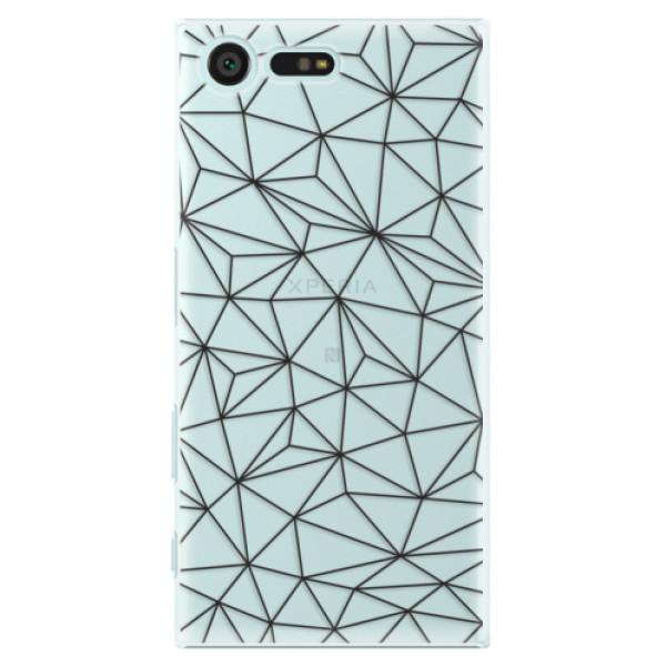 Plastové pouzdro iSaprio - Abstract Triangles 03 - black - Sony Xperia X Compact