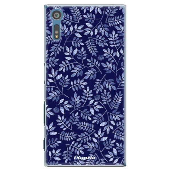 Plastové pouzdro iSaprio - Blue Leaves 05 - Sony Xperia XZ