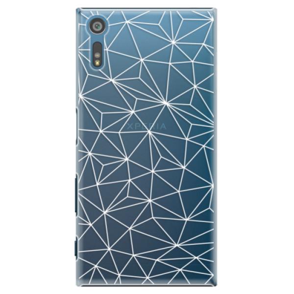 Plastové pouzdro iSaprio - Abstract Triangles 03 - white - Sony Xperia XZ