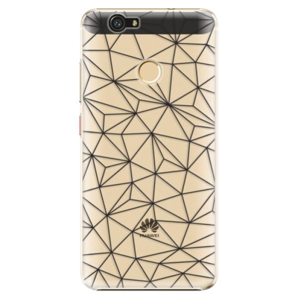 Plastové pouzdro iSaprio - Abstract Triangles 03 - black - Huawei Nova