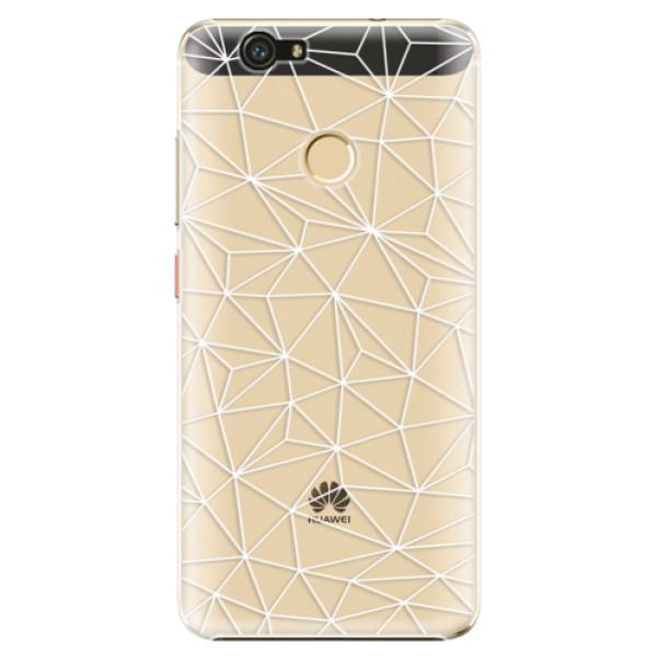 Plastové pouzdro iSaprio - Abstract Triangles 03 - white - Huawei Nova