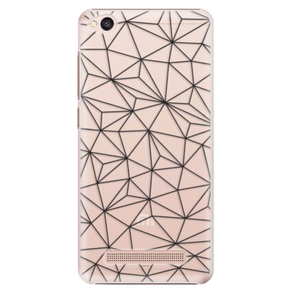 Plastové pouzdro iSaprio - Abstract Triangles 03 - black - Xiaomi Redmi 4A