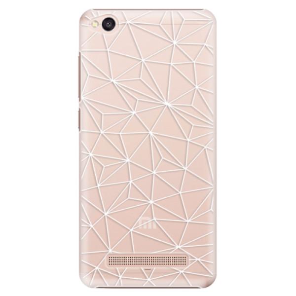 Plastové pouzdro iSaprio - Abstract Triangles 03 - white - Xiaomi Redmi 4A
