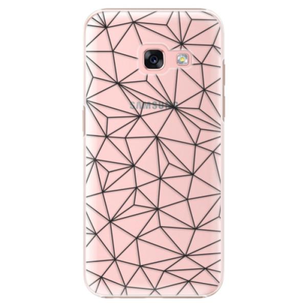 Plastové pouzdro iSaprio - Abstract Triangles 03 - black - Samsung Galaxy A3 2017