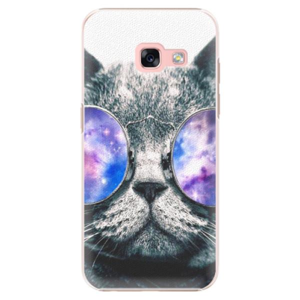 Plastové pouzdro iSaprio - Galaxy Cat - Samsung Galaxy A3 2017